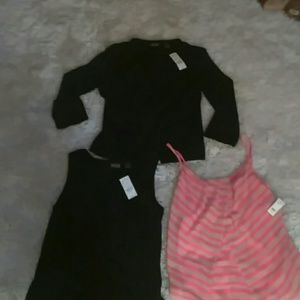 Nwt 3 piece lot New York and Company cardigan set